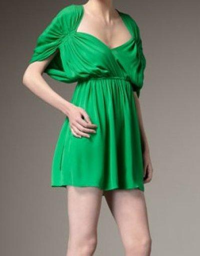 画像1: 【サラ・ジェシカ・パーカー着用】Halston Heritage Deep V Dolman Dress