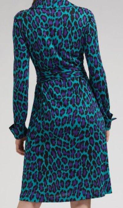 画像2: 11/3更新!【パリスヒルトン愛用】ダイアンフォンファステンバーグ Jeanne Wrap Dress SPOTTED CAT