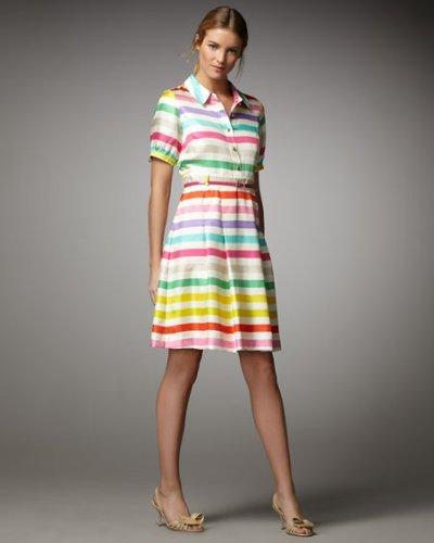 画像2: 【ケイティペリー愛用、美人百花掲載】Kate Spade キャンディストライプドレス