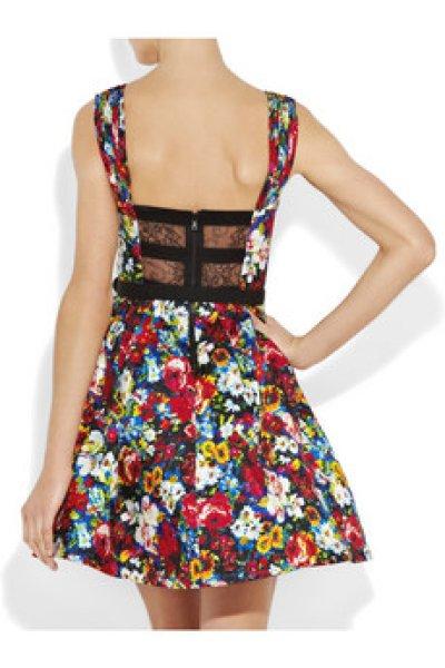 画像3: 【テイラー・スウィフト、ニコラ・ペルツ愛用】Alice + Olivia  Madeline Belted Full Skirt Dress