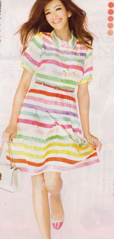 画像1: 【ケイティペリー愛用、美人百花掲載】Kate Spade キャンディストライプドレス