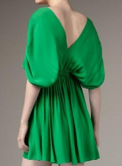 画像2: 【サラ・ジェシカ・パーカー着用】Halston Heritage Deep V Dolman Dress